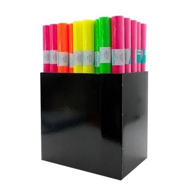 Kaftpapier folie schoolboeken neon roze 6 meter - Kaftpapier
