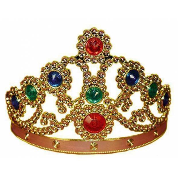 Gouden koninginnenkroon - Verkleedhaardecoratie