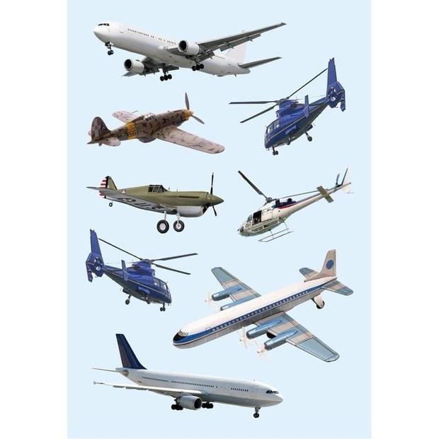 Vliegtuigen stickers 6 vellen - Stickers