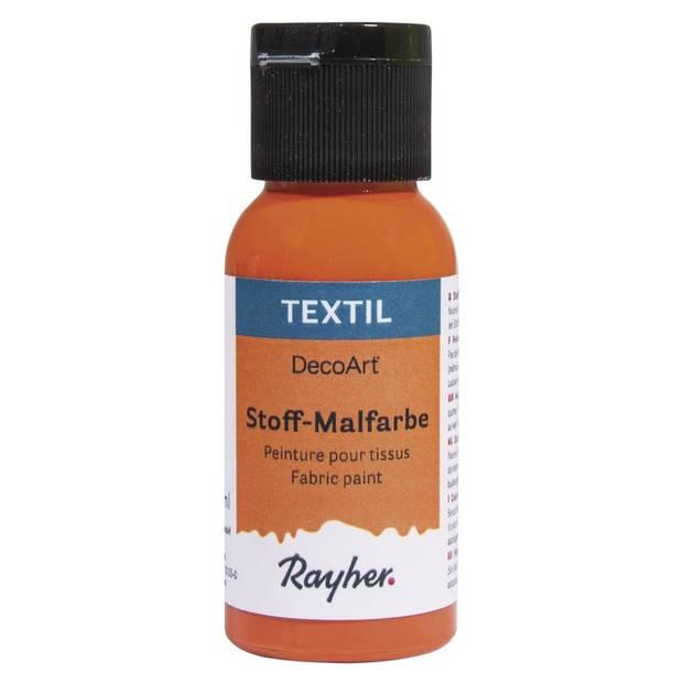 Oranje textielverf flacon 34 ml - Acryl stoffen verf