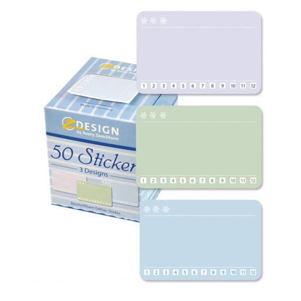 Huishoud diepvries sticker box 3 designs