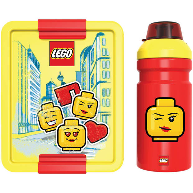 LEGO lunchset Iconic 2-delig geel/rood