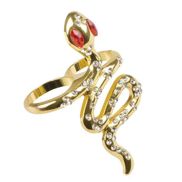 Boland ring Snake of the Nile dames goud