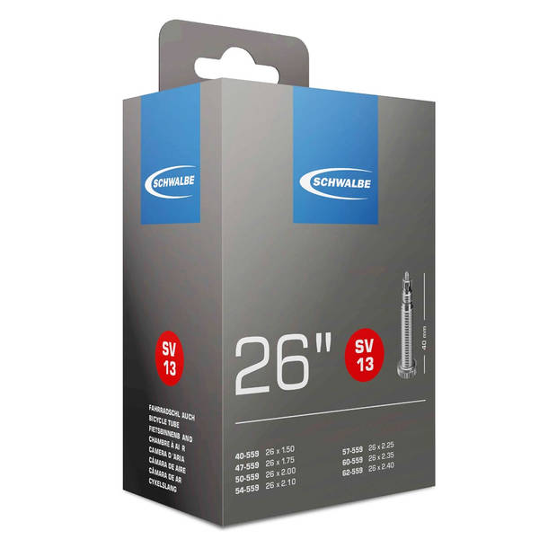 Schwalbe Binnenband SV13 26 x 1.50/2.50 (40/62-559) FV 40 mm