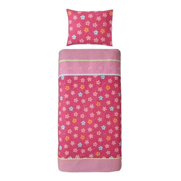 Lief! Girl dekbedovertrek - 100% katoen - 1-persoons (140x200 cm + 1 sloop) - 1 stuk (60x70 cm) - Roze