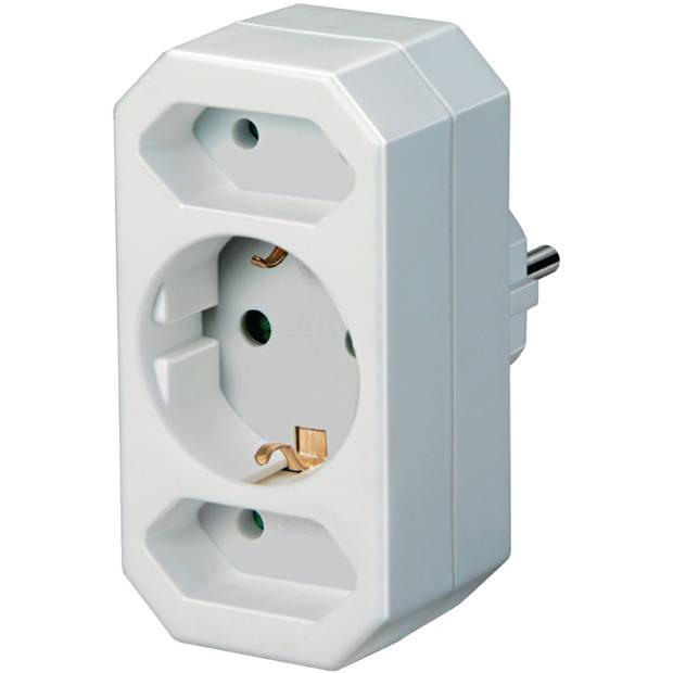 Brennenstuhl Stopcontact splitter 230V 1 x Schuko / 2 x Euro Wit