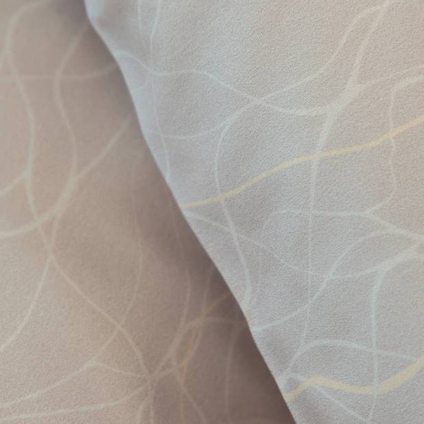 Damai Delta dekbedovertrek - Lits-jumeaux (240x200/220 cm + 2 slopen) - Katoen satijn - Sand