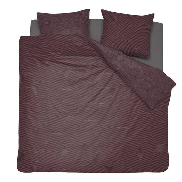 Damai Stray dekbedovertrek - 100% katoen-satijn - 2-persoons (200x200/220 cm + 2 slopen) - 2 stuks (60x70 cm) - Bruin