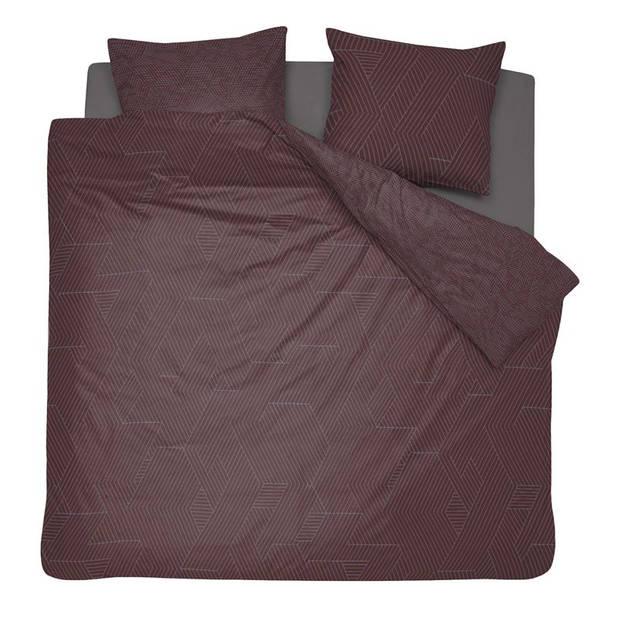 Damai Stray dekbedovertrek - 100% katoen-satijn - Lits-jumeaux (240x200/220 cm + 2 slopen) - Brown