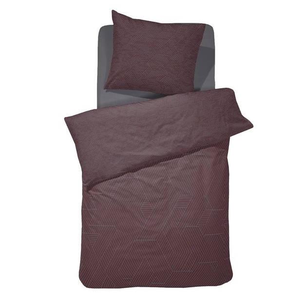 Damai Stray dekbedovertrek - 100% katoen-satijn - 1-persoons (140x200/220 cm + 1 sloop) - 1 stuk (60x70 cm) - Bruin