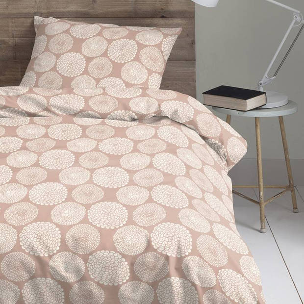 Cinderella Corsage dekbedovertrek - 100% percaline katoen - Lits-jumeaux (260x200/220 cm + 2 slopen) - Misty Rose
