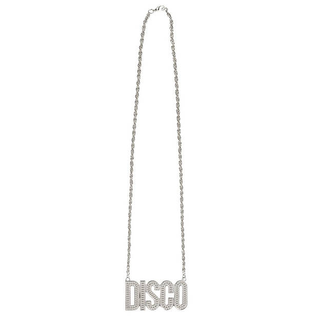 Boland ketting Disco unisex zilver