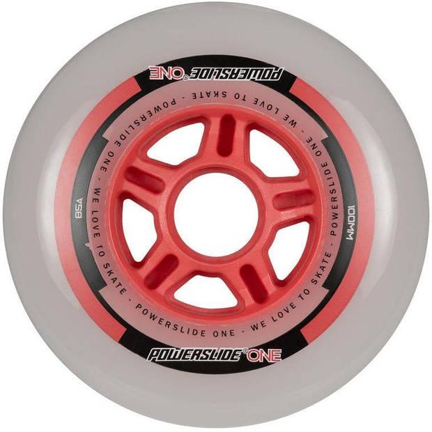 Powerslide skatewielen One 100 mm rood per 8 stuks