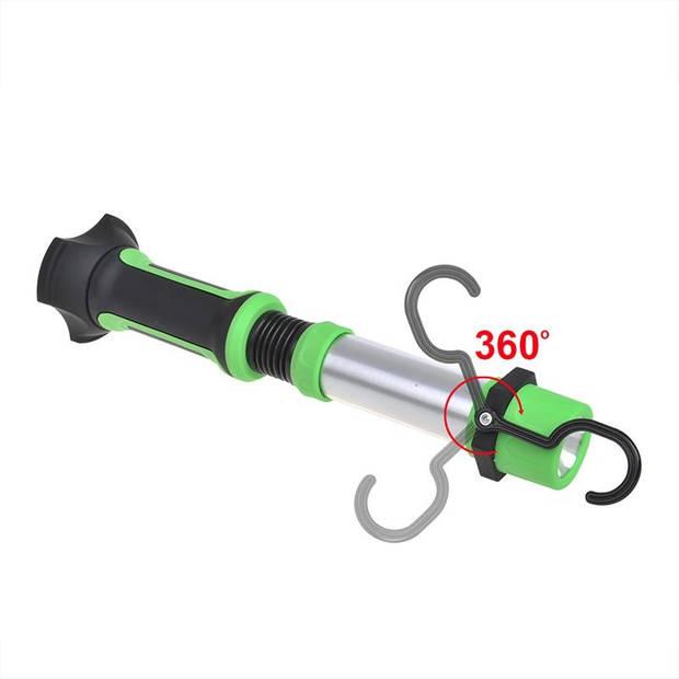 ProPlus looplamp led oplaadbaar 200 lumen 30 x 8 cm groen