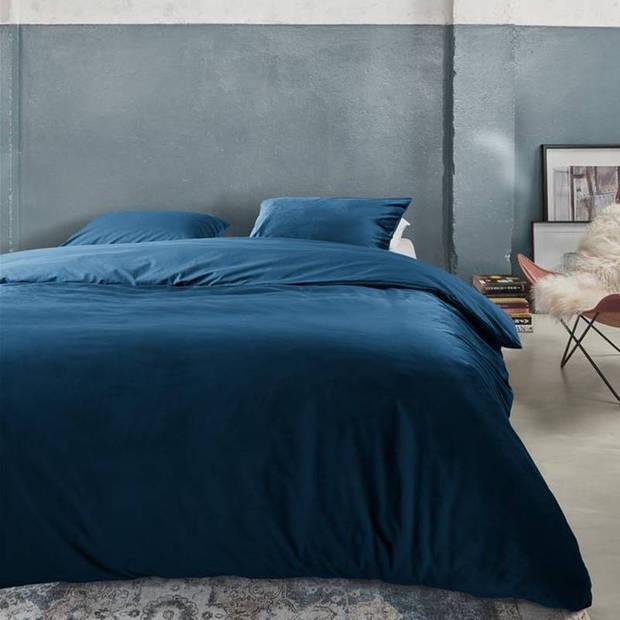 At Home with Marieke At Home Tender dekbedovertrek - Lits-jumeaux (240x200/220 cm + 2 slopen) - PU - Blue