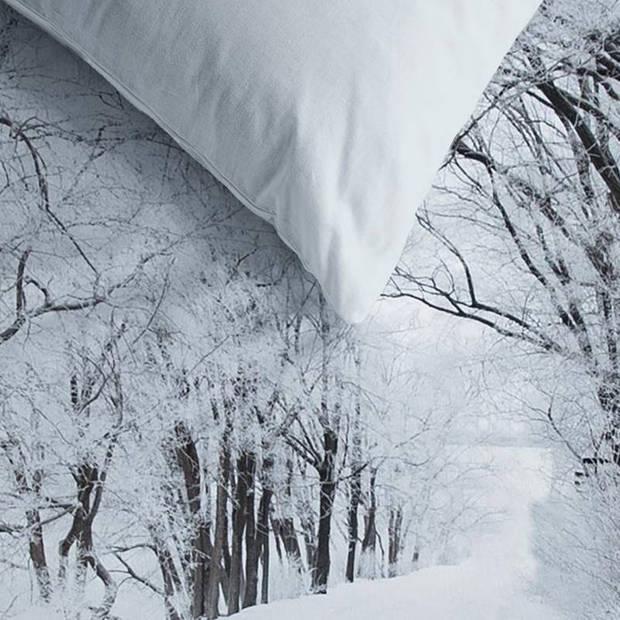Ambiante Amira dekbedovertrek - Lits-jumeaux (240x200/220 cm + 2 slopen) - Katoen - White