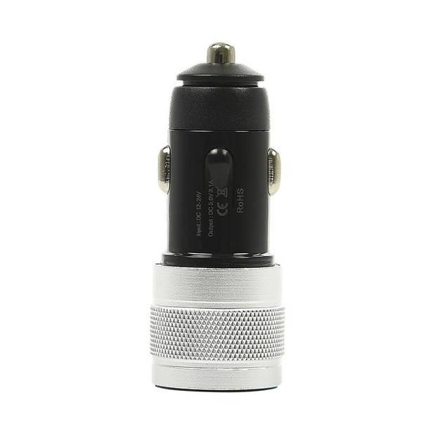 ProPlus USB autolader type A + C zwart 12V/24V 4,5 cm