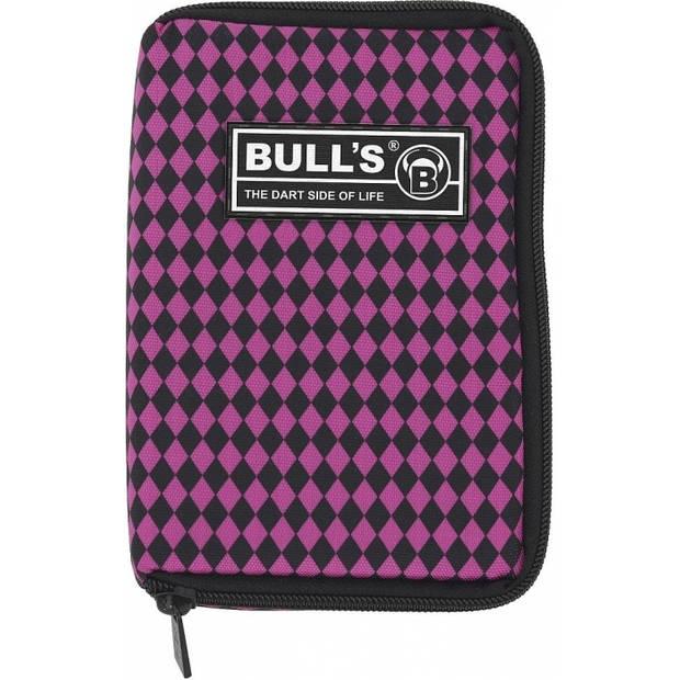 Bull's dartetui TP geruit roze/zwart 18 x 12 x 5 cm