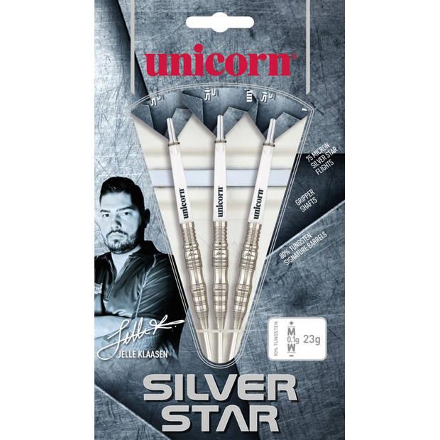 Unicorn dartpijlen Silver Star Jelle Klaasen 80% gewicht 23