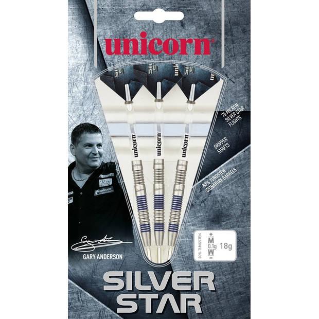 Unicorn dartpijlen Silver Star Anderson steel 80% gewicht 21