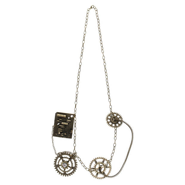 Boland ketting Steampunk Deluxe dames brons