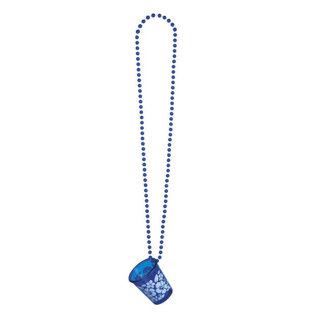 Boland ketting Shotglas Hibiscus unisex blauw