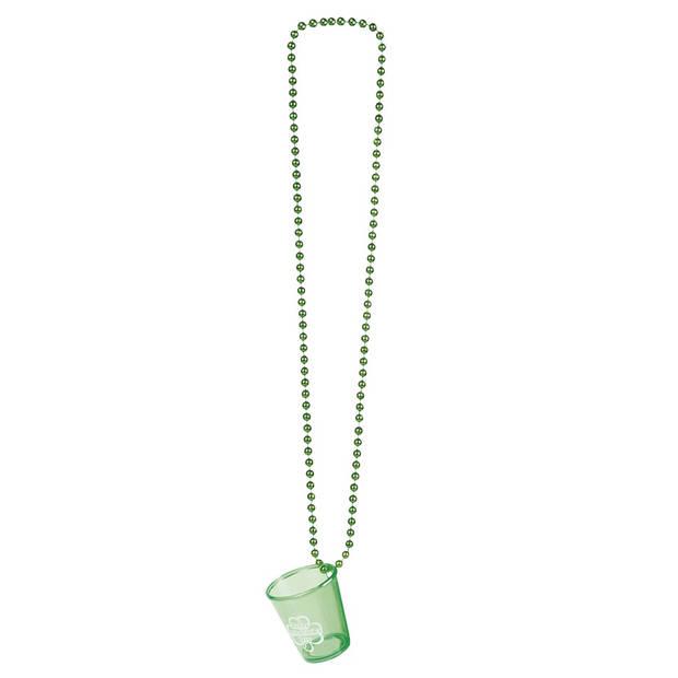 Boland ketting Shotglas St. Patrick's Day unisex groen