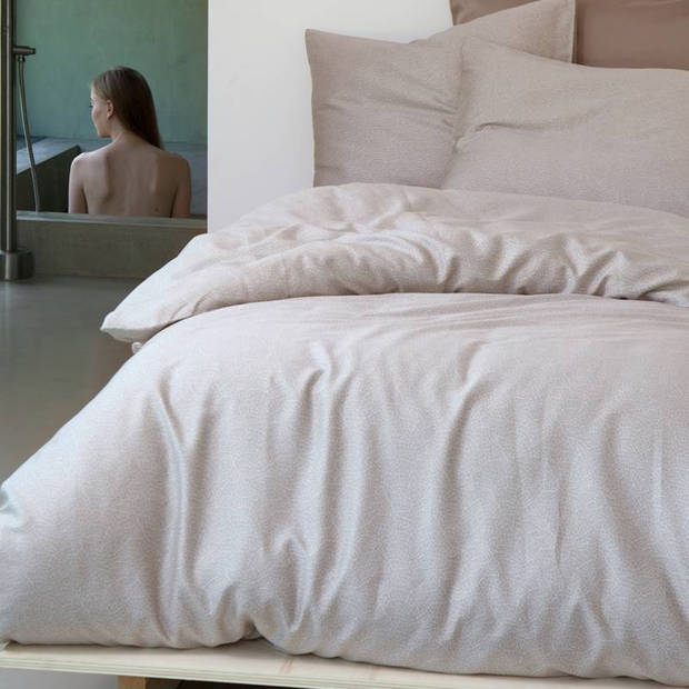 Damai Organic Silt dekbedovertrek - Lits-jumeaux (240x200/220 cm + 2 slopen) - Katoen satijn - Loam