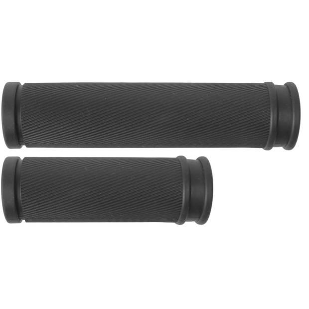 M-Wave handvatten Cloud Slick 130 mm zwart rubber per set