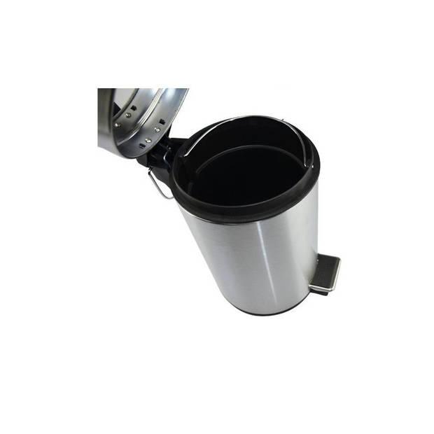 RVS pedaalemmer - 3 liter - afvalbakje / vuilnisbakje