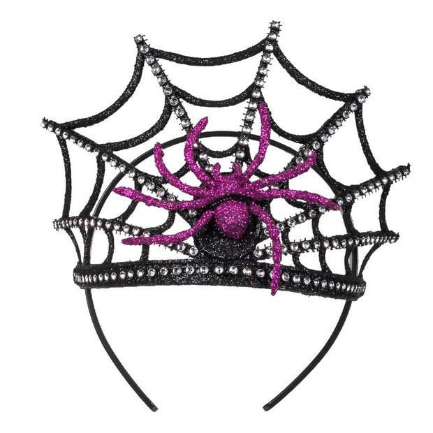 Halloween - Diadeem met spinnenkroon voor dames