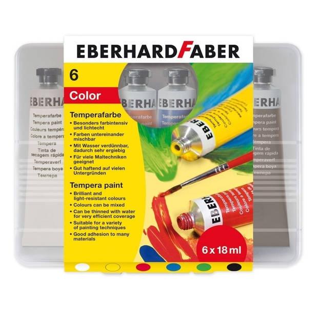 plakkaatverf Eberhard Faber 6 kleuren tube 18 ml