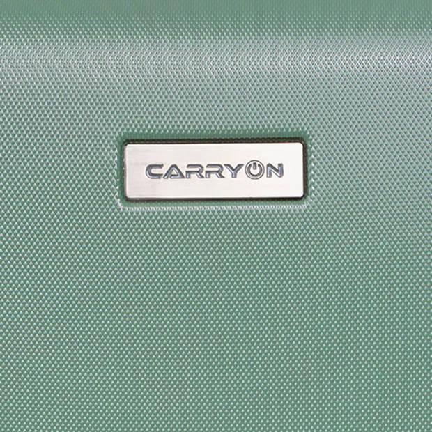 CarryOn Skyhopper Handbagage Koffer 55cm TSA-slot Okoban Registratie Olijf