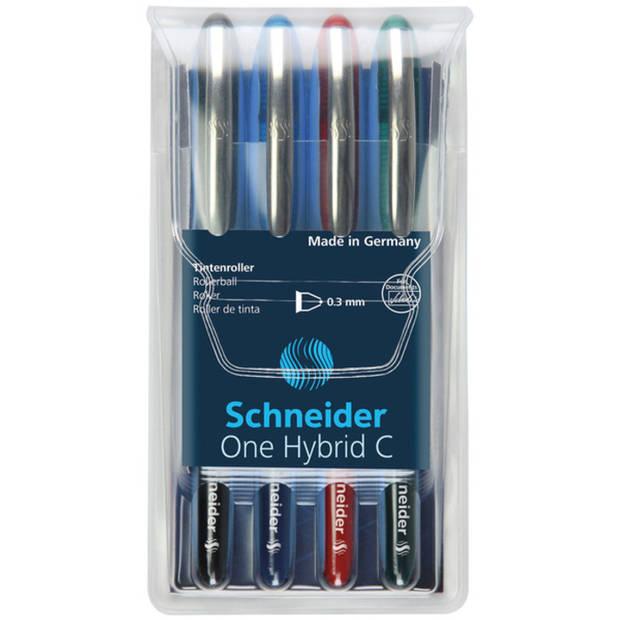 rollerball Schneider One Hybrid C 0,3mm etui 4 stuks
