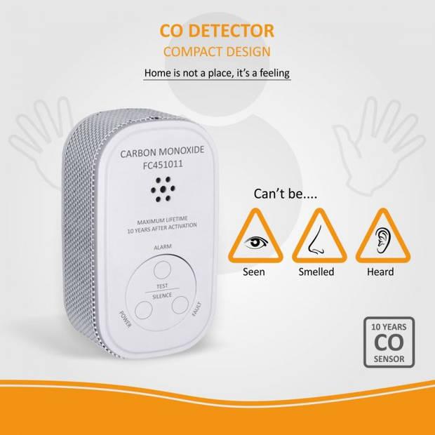ELRO Mini Koolmonoxidemelder FC4510 - Met 10 Jaar Batterij & Sensor - Voldoet aan norm EN50291