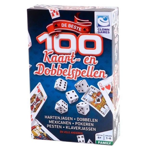 Spelletjes box 100 kaart en dobbelspellen