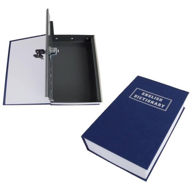 Kluis in boek / Engels woordenboek verstopplek - metaal - 27 cm