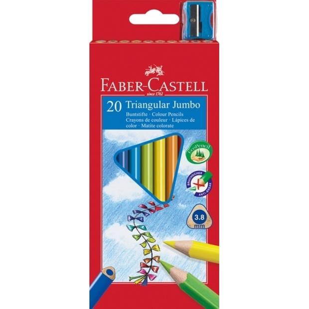 kleurpotlood Faber Castell Jumbo driekantig etui à 20 stuks