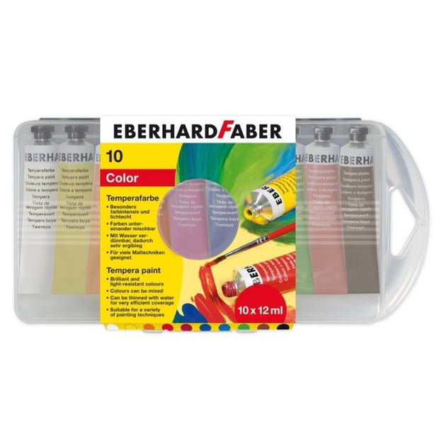 plakkaatverf Eberhard Faber 10 kleuren tube 12 ml