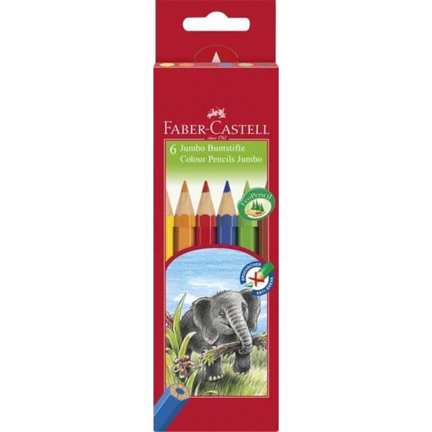 kleurpotlood Faber Castell Jumbo Eco etui à 6 stuks