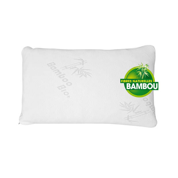 Herzberg Luxe Bamboe Kussen - Ergonomisch - In Handige Reistas -50 x 70 CM