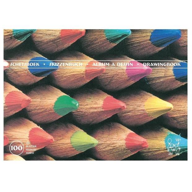 Schetsboek/tekenboek A4 100 vel wit