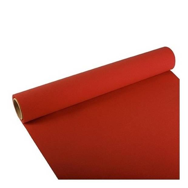 Tafelloper rood 300 x 40 cm papier