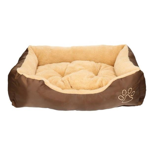 Hondenmand/hondenkussen bruin/beige 61 cm