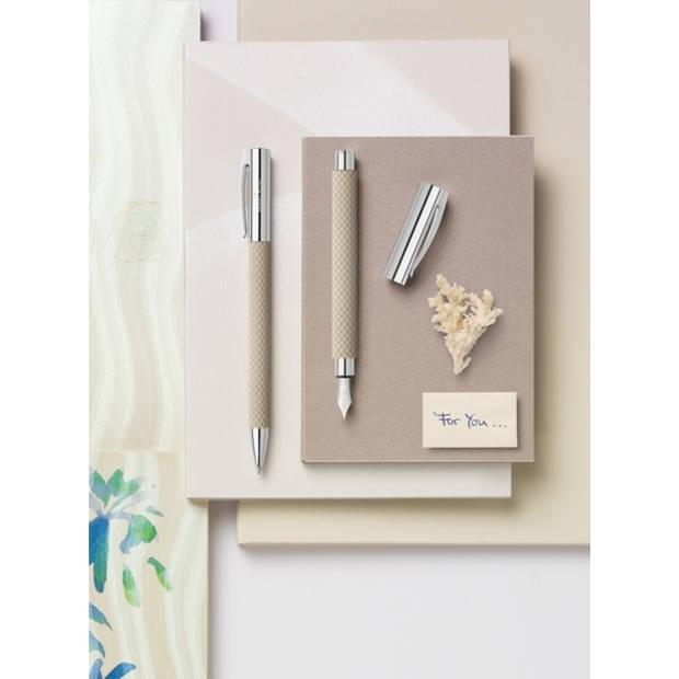 balpen Faber Castell Ambition OpArt 'wit zand'