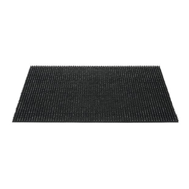 deurmat queens grasmat zwart 40x60cm hamat