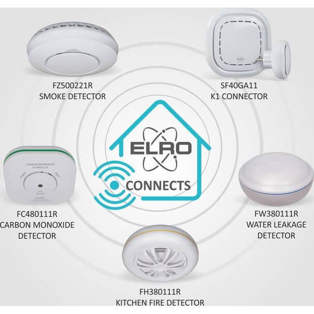 ELRO Connects Draadloos Koppelbare Rookmelder FZ5002R - met Hittesensor - voldoet aan Europese norm EN14604 - 6 stuks
