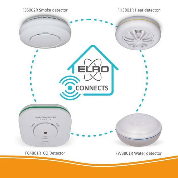 ELRO Connects Draadloos Koppelbare Koolmonoxidemelder FC4801R
