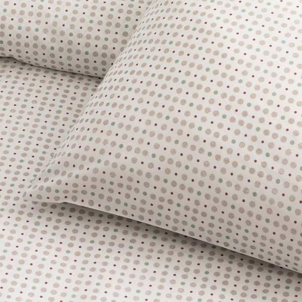 Damai Vibrate dekbedovertrek - 100% percaline katoen - Lits-jumeaux (240x200/220 cm + 2 slopen) - Greige