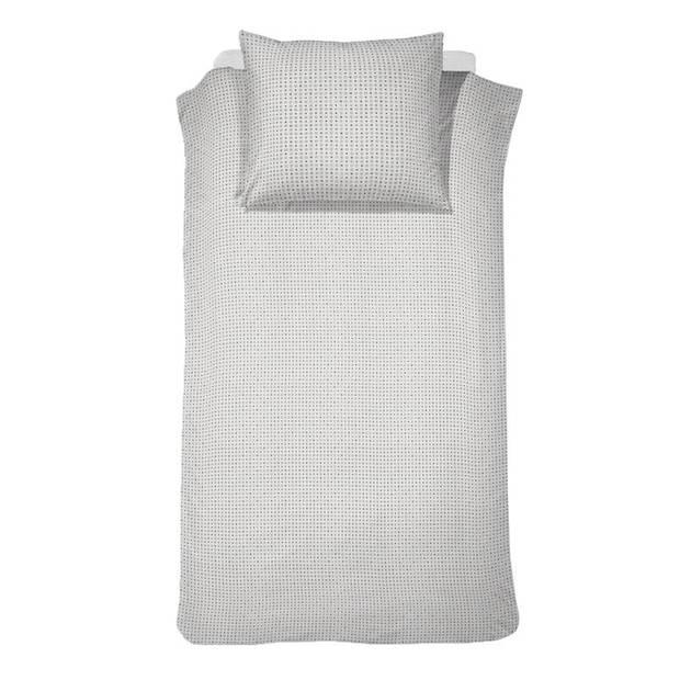 Damai Vibrate dekbedovertrek - 100% percaline katoen - 1-persoons (140x200/220 cm + 1 sloop) - 1 stuk (60x70 cm) - Grijs